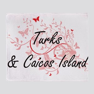 Turks & Caicos Island Artistic Desig Throw Blanket